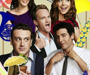 himym, love story, and yellow umbrella image