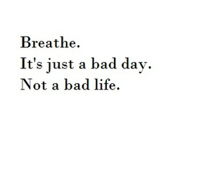 breathe and quote image