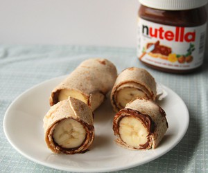 nutella, banana, and chocolate image