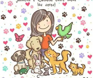 animal, love, and dog image