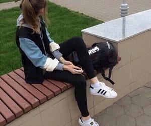 girl, adidas, and grunge image