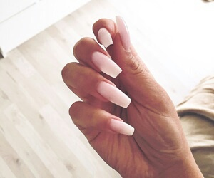 dressed up, long nails, and pink image