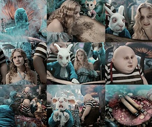 alice, rabbit, and alice in wonderland image