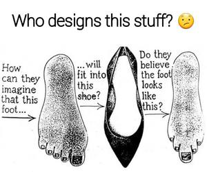 funny, shoes, and design image