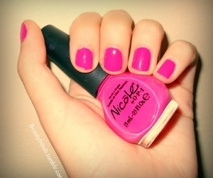 nails, pink, and Nicole image