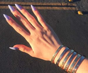 nails, kylie jenner, and purple image