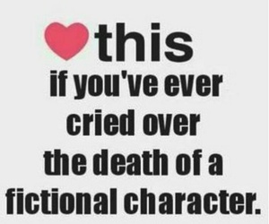book, cry, and fictional characters image