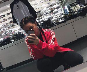 girl, adidas, and braid image