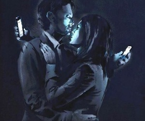 BANKSY, art, and phone image