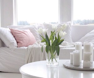 candles, sofa, and white image