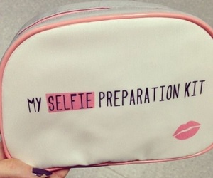 selfie, makeup, and pink image