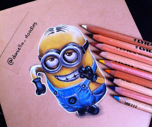 art, minions, and despicable me image