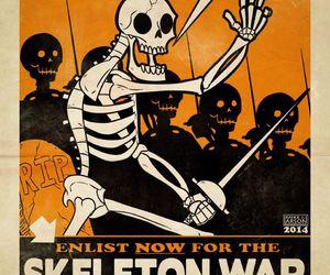 art, skeleton, and Halloween image