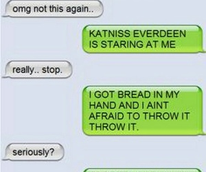 funny, the hunger games, and peeta mellark image