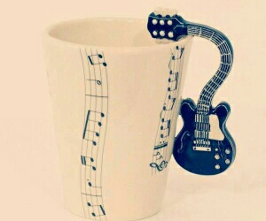 coffe, music, and taza image