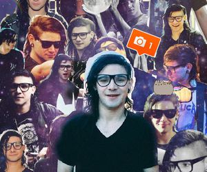 Collage, sonny moore, and skrillex image