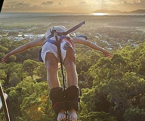 australia, sun, and bungee jumping image