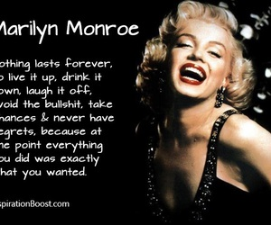 quote, Marilyn Monroe, and life image