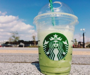beautiful, blue, and frappucino image