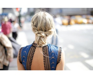braids, fashion, and hairstyle image