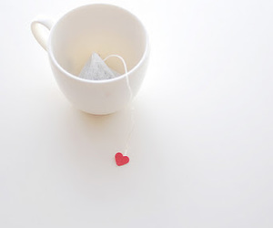 heart, tea, and cup image