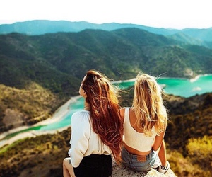 girl, friends, and beautiful image