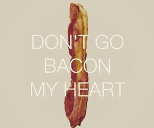 bacon, funny, and heart image