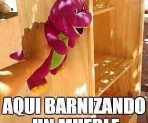 memes, funny, and barney image