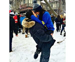 cold, couple, and cute image