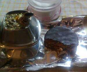 mate, breackfast, and alfajor image