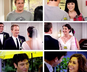 barney, himym, and lily image