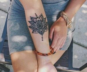 girls, tatoos, and grunge image