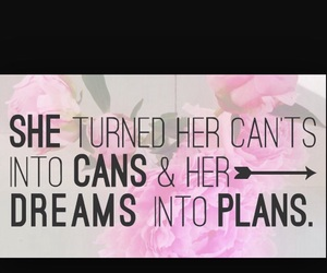 Dream, quote, and plan image