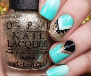 nails, nail art, and esmalte image