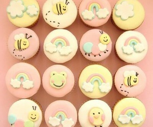 cupcake, cute, and rainbow image