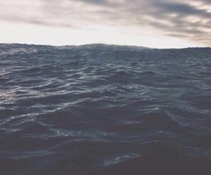sea, ocean, and sky image