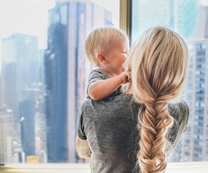 baby, hair, and blonde image