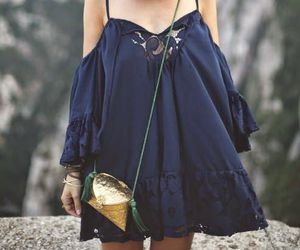 fashion, navy, and outfit image