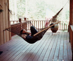 hammock and black and white image