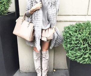 fall fashion, fur vest, and street fashion image