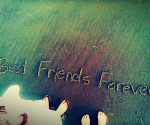 beach, best friend, and forever image