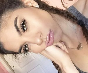 beauty, brown eyes, and makeup image