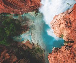 water, beautiful, and waterfall image