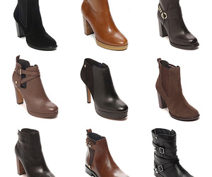ankle boots, brown, and fashion image