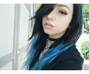alternative, blue hair, and colorful hair image