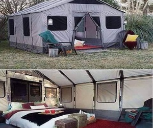camping, funny, and tent image