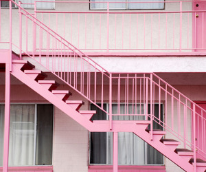 pink, stairs, and grunge image