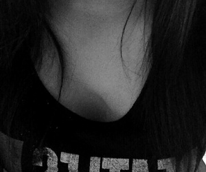 black and white, lips, and boca image