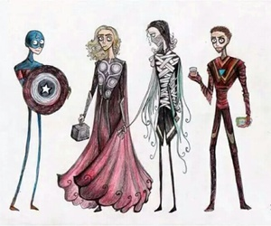 Avengers, tim burton, and iron man image