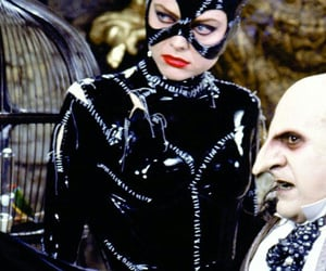 catwoman, tim burton, and the penguin image